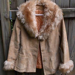 Vintage 70's Fur Penny Lane Afghan Hippie Coat🌿